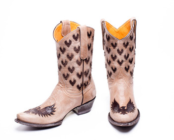 L1641-2-SS OLD GRINGO LITTLE EAGLE INLAY BONE CHOCOLATE BROWN BOOTS