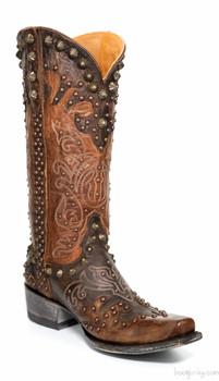 L1244-5 Old-Gringo Raelene Chocolate Brass Women's Boot