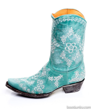 L1711-2-SS Old Gringo Tarren Turquoise Embroidered Cowgirl Boots