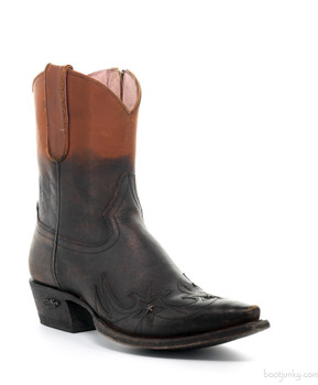 U6009-01 Miss Macie Weatherford Chocolate Cinnamon Boho Cowgirl Leather Boots