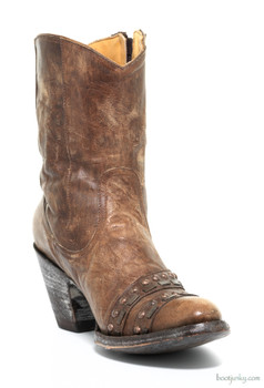 """L1064-2-SS OLD GRINGO DIONA BRASS STUDDED STRAP 7"""" ANKLE BOOTS"""