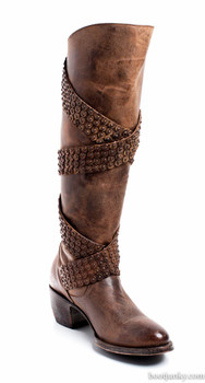 """L1296-1-SS OLD GRINGO BUZZY CHOCOLATE 15"""" LEATHER BOOTS"""