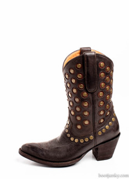 L2242-2-SS OLD GRINGO AVERSI CHOCOLATE STUDDED BOOTS