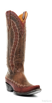 """L2306-2-SS OLD GRINGO OJAI 15"""" BRASS/RED COWGIRL BOOTS"""
