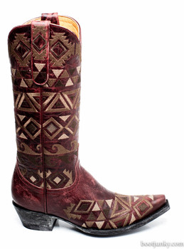 L2371-3-SS OLD GRINGO DURANGO RED EMBROIDERED COWGIRL BOOTS