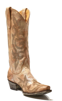 """L 113-57-SS OLD GRINGO DIEGO 13"""" SILVER AND GOLD COWGIRL BOOTS"""