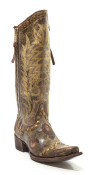 L 598-11-SS Old Gringo RockRazz Chocolate Cowgirl Boots