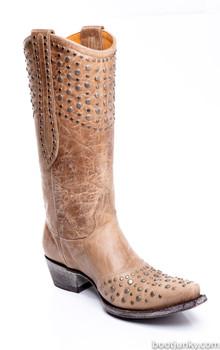 L 676-14-SS Old Gringo Womens Leigh Ann Bone Cowgirl Boots
