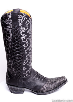 """L1073-2-SS OLD GRINGO SWEET REVITA 13"""" BLACK COWGIRL BOOTS"""