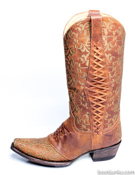 """L1073-5-SS OLD GRINGO SWEET REVITA 13"""" OCHRE COWGIRL BOOTS"""
