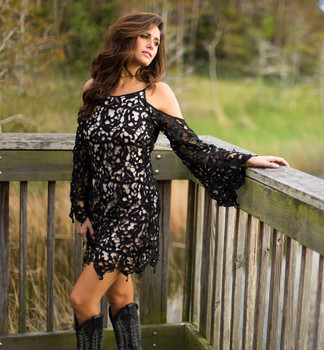 19.Bronte Collection Teagan Black Boho Dress