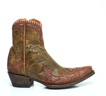BL 473-14 Old Gringo Venice Green / Tan Leather Ankle Boots