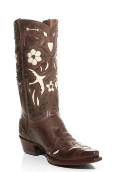 """L 017-18-SS OLD GRINGO GOLONDRINA 12"""" RUST AND BONE COWGIRL BOOTS"""