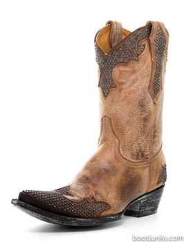 """L1270-60 OLD GRINGO PORFINA BROWN 10"""" LEATHER COWGIRL BOOTS"""