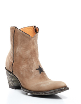 BL0958-19-SS Old Gringo Bone / Chocolate Star Leather Ankle Boots