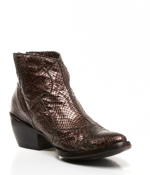 BL1090-5-SS Old Gringo Candy Metallic Chocolate Cobra Cowgirl Ankle Boots