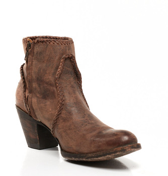 BL1116-12-SS Old Gringo 'Adela' Chocolate fringe Leather Ankle Boots