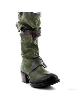 "AS98 Carter Jungle Green 11.5"" Leather Buckle Boots"