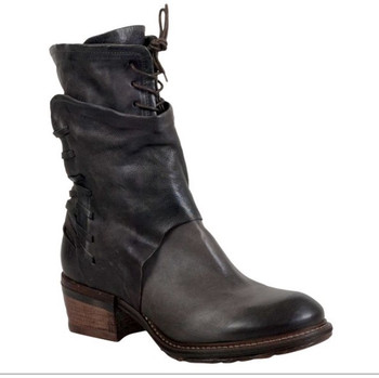 "AS98 Chet Nero Black 10"" Leather Lace Up Ankle Boots"