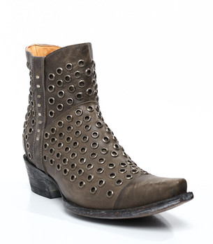 """BL1912-1-SS Old Gringo """"Ojitos"""" Grey Leather Ankle Boots"""
