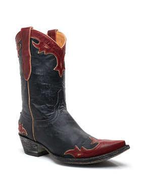 """L 060-125 OLD GRINGO NAVY RED AND BONE 10"""" COWGIRL BOOTS"""
