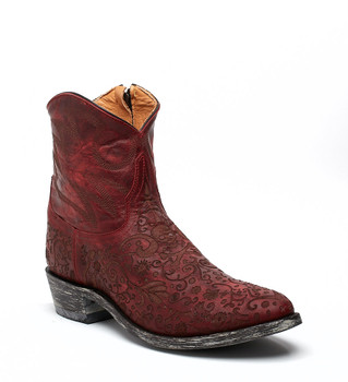 """L1709-1 OLD GRINGO FRANCIPAOLA LS 7"""" RED COWGIRL ANKLE BOOTS"""