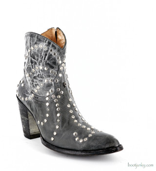 """L1321-3 OLD GRINGO URSULA 7"""" GREY DISTRESSED STUDDED ANKLE BOOT"""