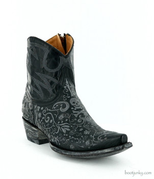 "L1712-1 OLD GRINGO FRANCIPAOLA 7"" BLACK ANKLE BOOTS"