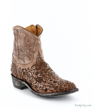 """L1709-3 OLD GRINGO FRANCIPAOLA LS 7"""" BROWN ANKLE BOOTS"""