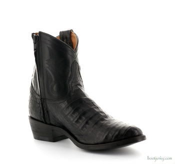 "L2039-3 OLD GRINGO NEVADA ZIPPER 7"" BLACK CAYMAN ANKLE BOOTS"