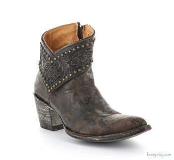 "L1600-2 OLD GRINGO MARIANA 7"" CHOCOLATE STUDDED ANKLE BOOTS"