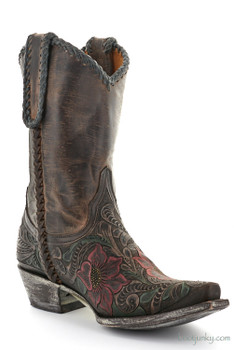 "L1607-1 OLD GRINGO FLOR TOOL 10"" HAND TOOLED COWGIRL BOOTS"