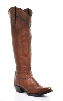 """UNION OF ANGELS KALAHARI 18""""  BRASS/BROWN LEATHER RIDING BOOTS"""