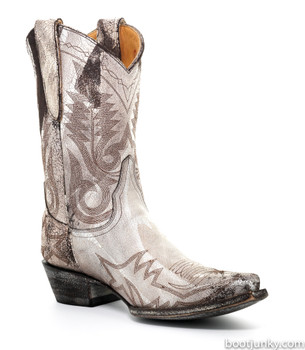 """L 175-347 OLD GRINGO NEVADA 10"""" WHITE/BROWN COWGIRL BOOTS"""