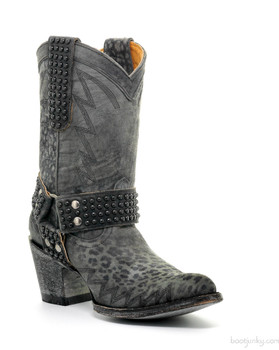 "L2001-2 OLD GRINGO COWGIRL CARBON LEOPARDITO 10"" BOOTS"