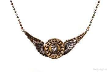 BARBOSA JEWELRY ANGEL WINGS BRASS AND SILVER NECKLACE