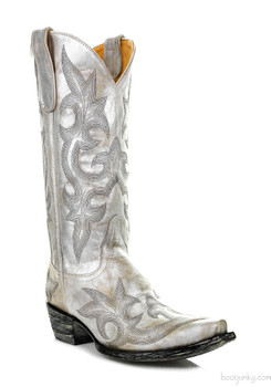 """L 113-56-SS OLD GRINGO DIEGO 13"""" NACAR SILVER METALLIC COWGIRL BOOTS"""
