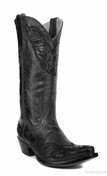 "L 282-20 OLD GRINGO VIRIDIANA 13"" BLACK COWGIRL BOOTS"