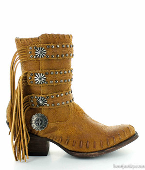 "DDL013-2 DOUBLE D RANCH TAOS PEOPLE TAN 10"" ANKLE BOOTS"