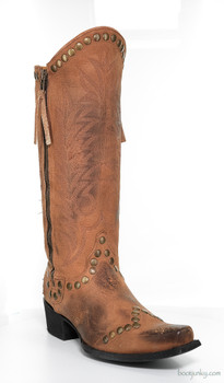 """L 598-15-SS OLD GRINGO ROCKRAZZ COGNAC 13"""" COWGIRL BOOTS"""