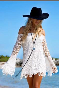 26. UNION OF ANGELS LILIAN LACE WHITE DRESS