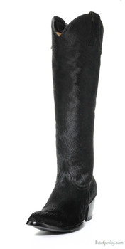 """L1299-2 OLD GRINGO 18"""" MAYRA BLACK HAIR ON HYDE COWGIRL BOOTS"""