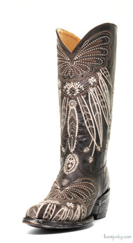 "L1135-8 OLD GRINGO LAKOTA 13"" CHOCOLATE EMBROIDERED COWGIRL BOOTS"