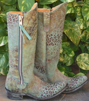 L 340-TBD OLD GRINGO RAZZ TURQUOISE LEOPARITO COWGIRL BOOTS CUSTOM ORDER