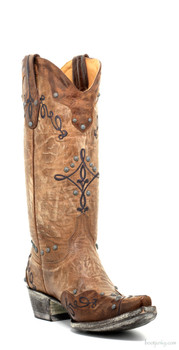 "L1614-1-SS OLD GRINGO ALISSA 13"" BRASS/ORYX COWGIRL BOOTS"