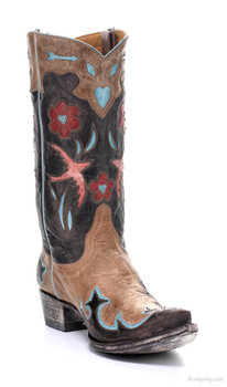 "L 179-11-SS OLD GRINGO GOLONDRITA 12"" ORYX / CHOCOLATE COWGIRL BOOTS"