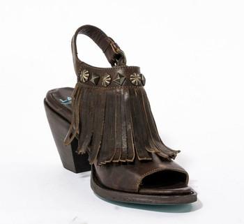 LB0316B Lane Cody Brown Fringe Sandals