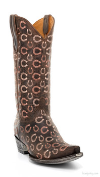 "L1794-1-SS OLD GRINGO CABAZORRO 13"" CHOCOLATE COWGIRL BOOTS"