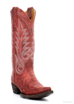 """L1964-49-SS OLD GRINGO NEVADA DISTRESSED RED BIZ 13"""" COWGIRL BOOT"""