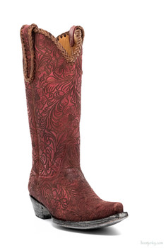 "L1990-2-SS OLD GRINGO CASSIDY 13"" RED COWGIRL BOOTS"